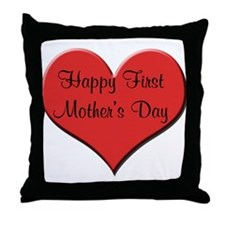 Happy First Father's Day Throw Pillow