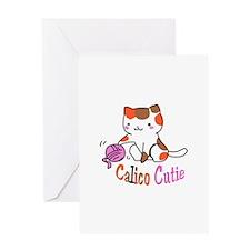 calico cutie Greeting Cards