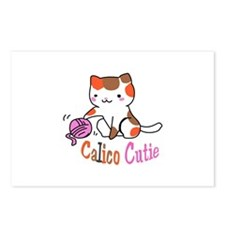 calico cutie Postcards (Package of 8)
