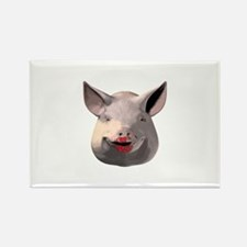 Cool Lipstick on a pig Rectangle Magnet