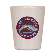 USS FINBACK Shot Glass