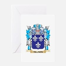 Tillmon Coat of Arms - Family Crest Greeting Cards
