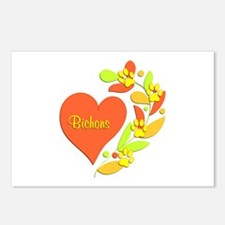 Bichon Heart Postcards (Package of 8)