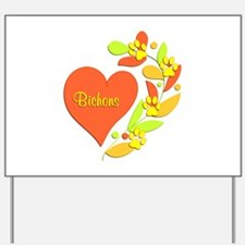 Bichon Heart Yard Sign
