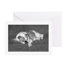TUCKERED OUT BULLDOG Greeting Card