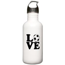 Love Soccer Water Bottle