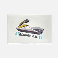 JET SKI AQUAHOLIC Magnets