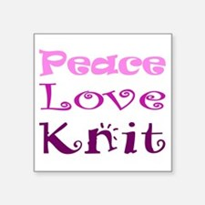 Peace Love Knit Sticker
