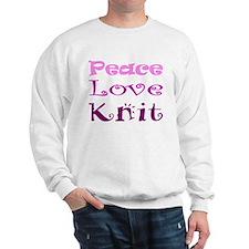 Peace Love Knit Sweatshirt