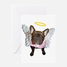 ANGEL FRENCHIE Greeting Card