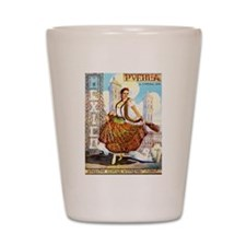 Puebla Mexico ~ Vintage Travel Shot Glass