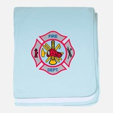 MALTESE CROSS APPLIQUE baby blanket