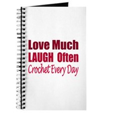 Love Laugh Crochet Every Day Journal