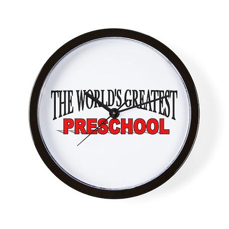 """The World's Greatest Preschool"" Wall Clock"