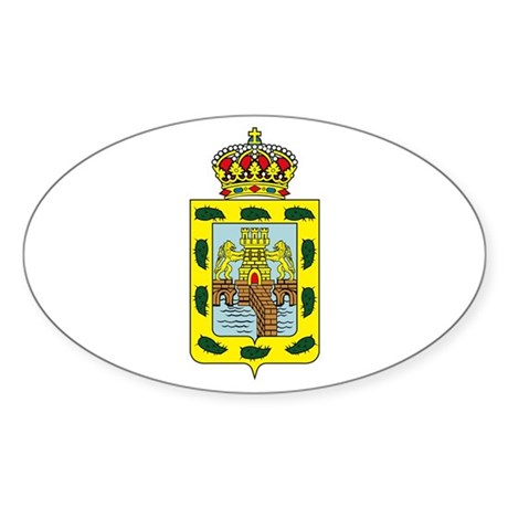 Mexico City Coat of Arms Oval Sticker