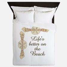 LIFES BETTER ON THE BEACH Queen Duvet