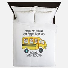 THE WHEELS ON THE BUS Queen Duvet
