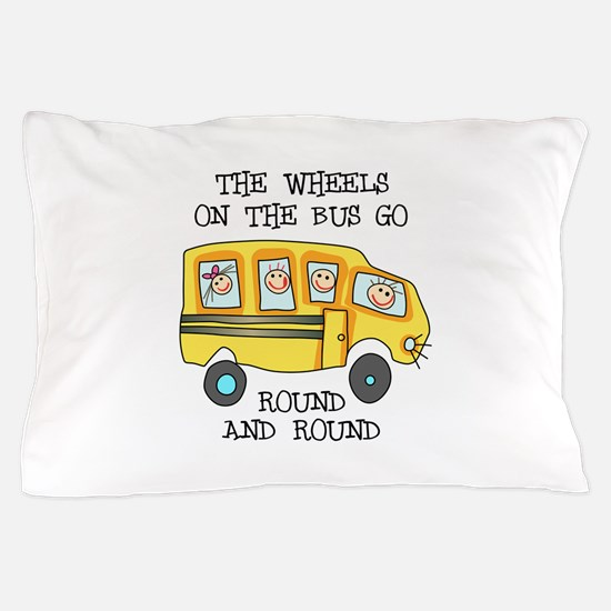 THE WHEELS ON THE BUS Pillow Case