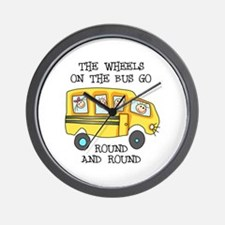 THE WHEELS ON THE BUS Wall Clock