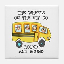 THE WHEELS ON THE BUS Tile Coaster