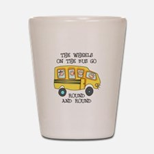 THE WHEELS ON THE BUS Shot Glass