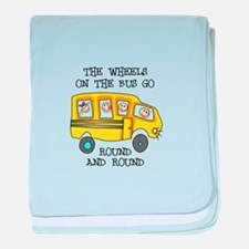 THE WHEELS ON THE BUS baby blanket