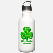 Fifty Shades of Green Sports Water Bottle