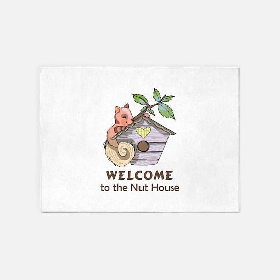 THE NUT HOUSE 5'x7'Area Rug