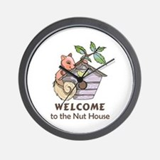 THE NUT HOUSE Wall Clock