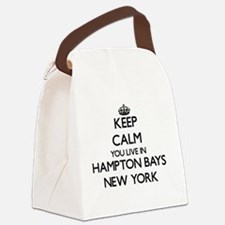 Keep calm you live in Hampton Bay Canvas Lunch Bag