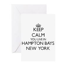 Keep calm you live in Hampton Bays Greeting Cards