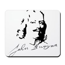 John Bunyan Portrait with Signature Mousepad