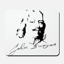 John Bunyan Portrait with Signature Mousepad