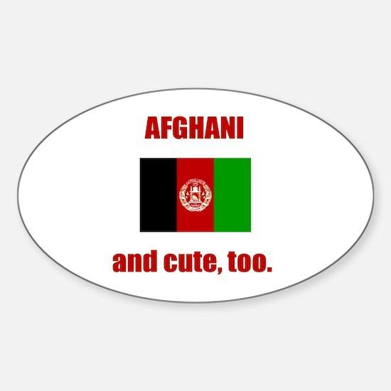 Afghani & Cute Oval Decal