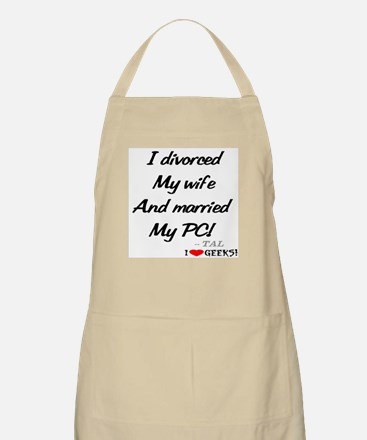 PC Divorce Wife BBQ Apron
