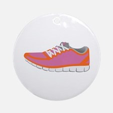 WOMANS RUNNING SHOE Ornament (Round)