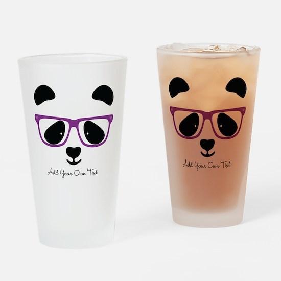 Cute Panda Purple Drinking Glass