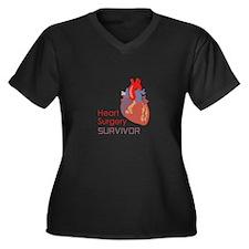 HEART SURGERY SURVIVOR Plus Size T-Shirt