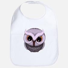 Cute Purple Spotted Owl Illustration Bib