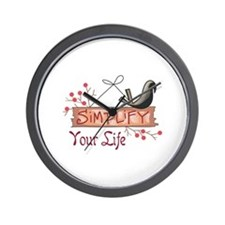 SIMPLIFY YOUR LIFE Wall Clock