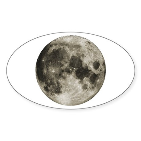 The Moon Oval Sticker