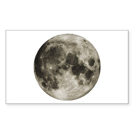 The Moon Rectangle Sticker
