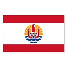 French Polynesia Flag Rectangle Decal