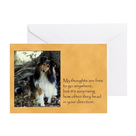 Can't Stop Sheltie Card