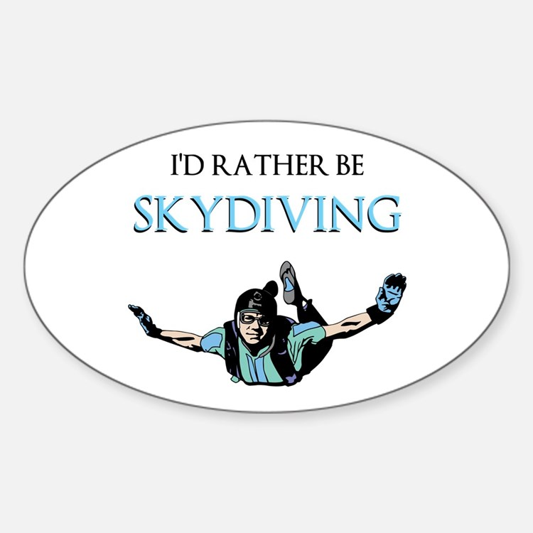 Rather Be Sky Divin... Decal