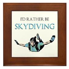 Rather Be Sky Divin... Framed Tile