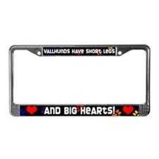 Short Legs Vallhund License Plate Frame Rainbow