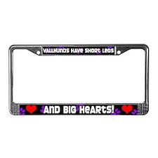 Short Legs Vallhund License Plate Frame Purple