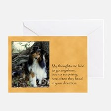 Difficult Times Sheltie Card