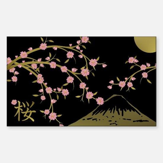 Pink Sakura Gold Black Decal